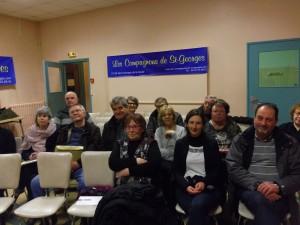 L'assemblée : les Compagnons et quelques invités
